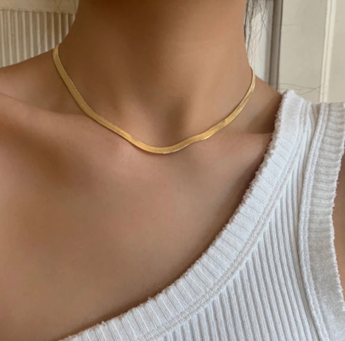 Herringbone Chain (Gold)