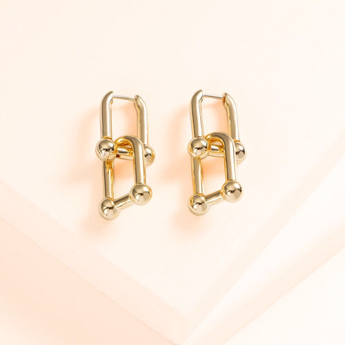 Link Earrings (Gold)