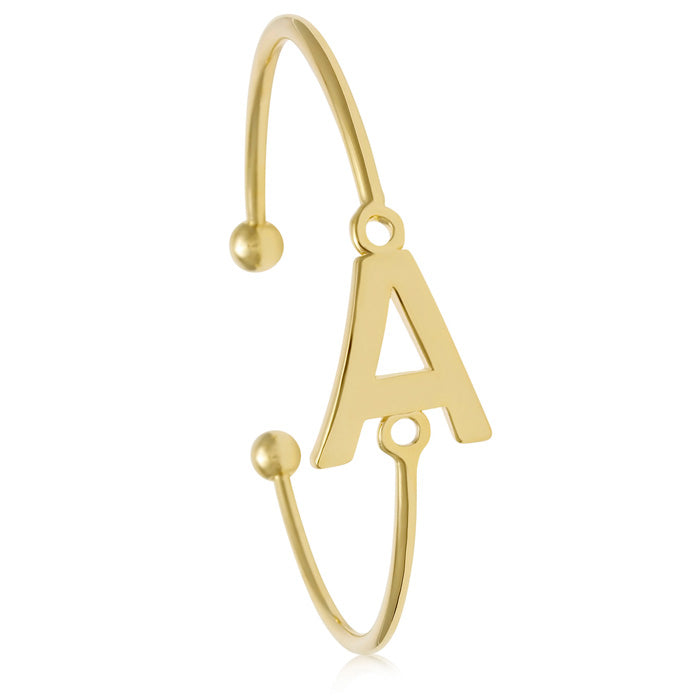 Initial Bangle (Gold)