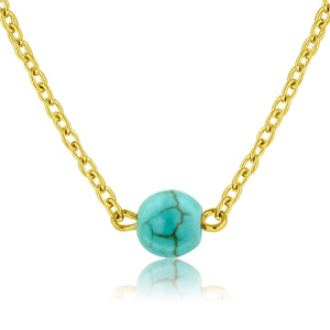 Signature Lariat and Dainty Bead Necklace (Turquoise)