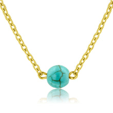 Load image into Gallery viewer, Dainty Bead Necklace (Turquoise)