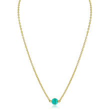 Load image into Gallery viewer, Signature Lariat and Dainty Bead Necklace (Turquoise)