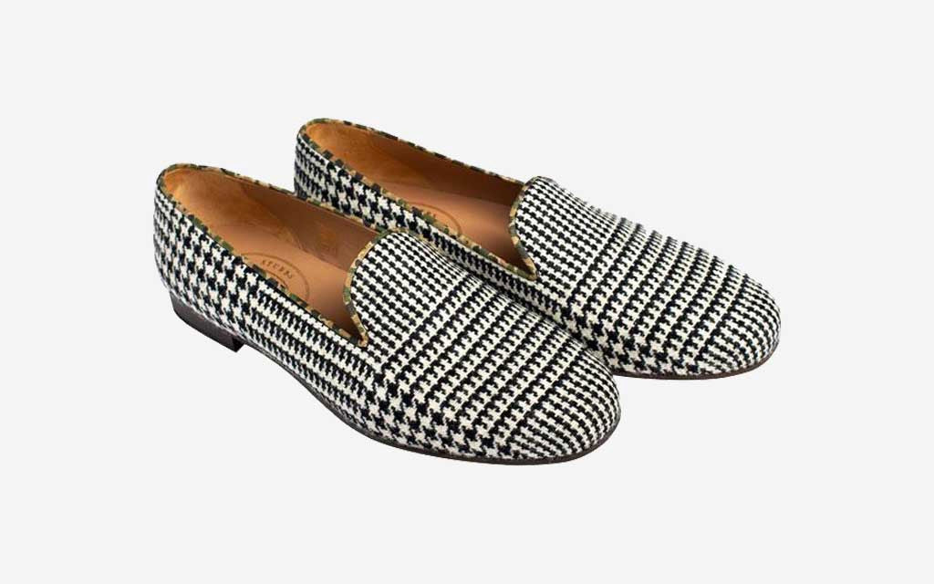 Exploded Plaid Slipper