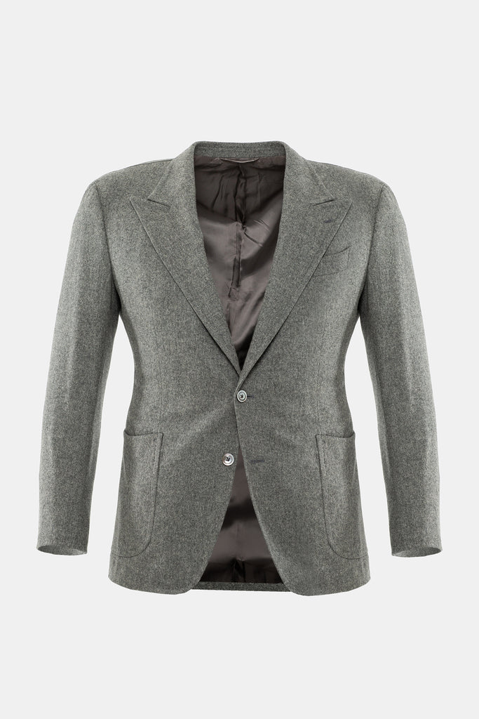 Pearl Grey Flannel Jacket