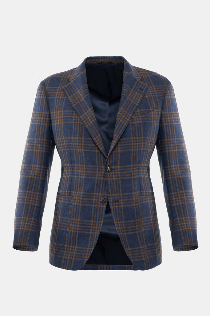 Blue and Rust Plaid Jacket