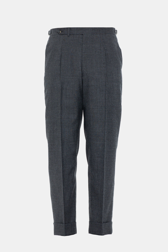 Charcoal Prince of Wales Trouser