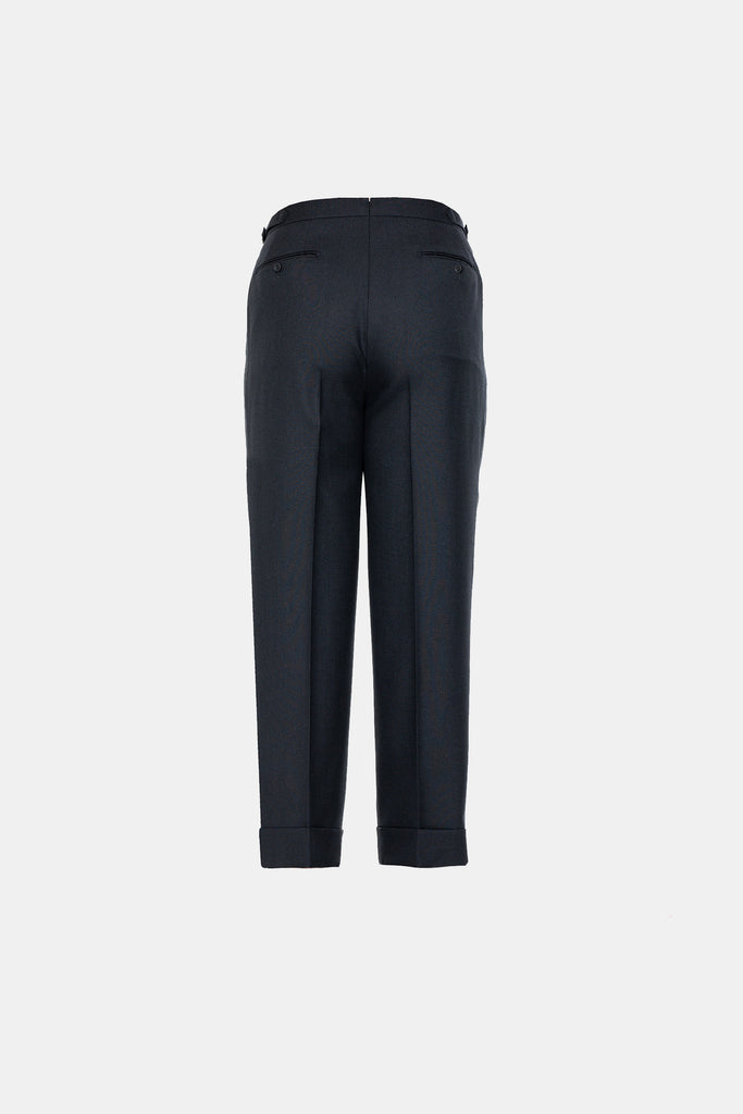Solid Black Suit Trousers