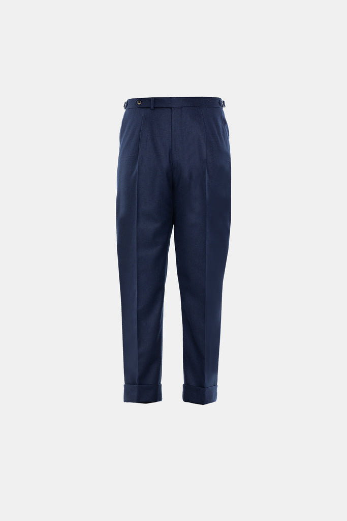 Navy Flannel Trouser