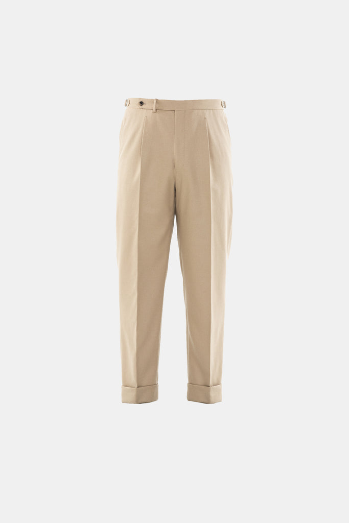 Sand Flannel Trouser