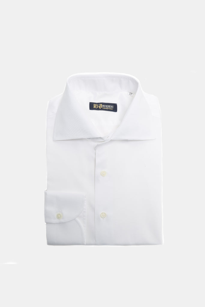 WHITE SIGNATURE COLLAR SHIRT