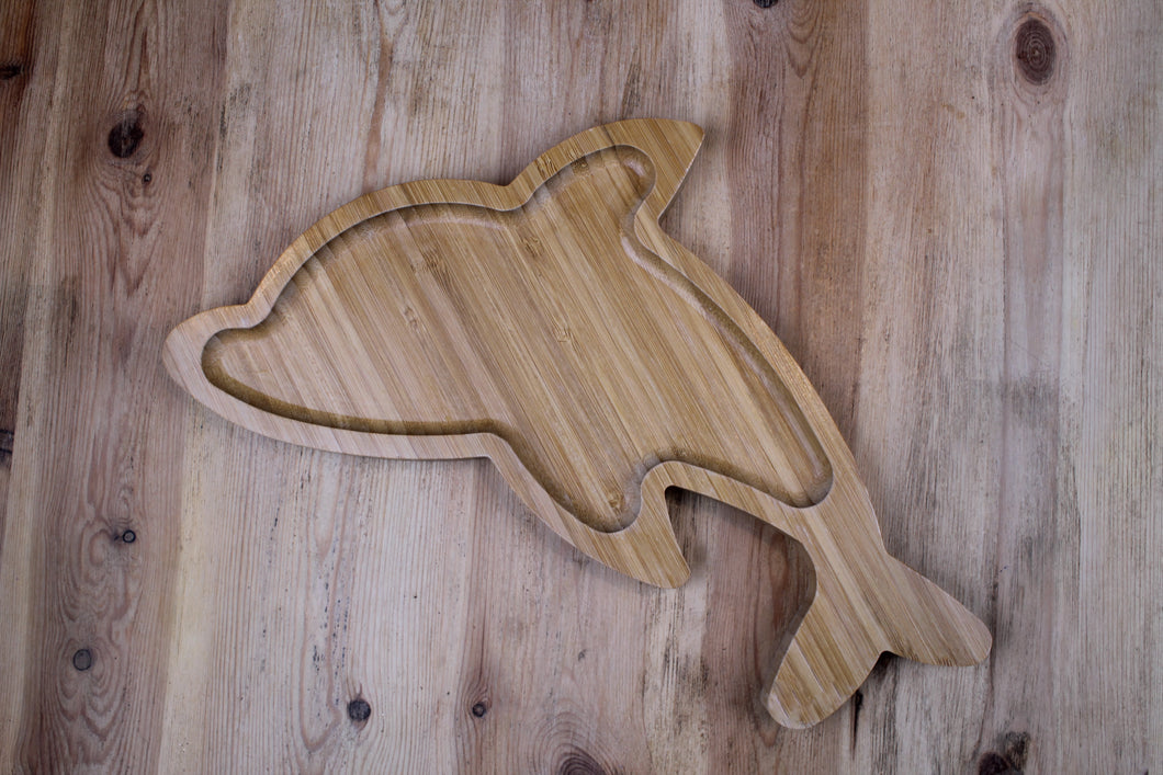 Dolphin Bamboo Plate