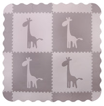 Load image into Gallery viewer, Large Grey Giraffe Interlocking Foam Baby Play Mat