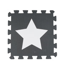 Load image into Gallery viewer, Black and White Star 9 Tile Baby Play Mat