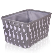 Load image into Gallery viewer, Grey Giraffe Canvas Storage Basket Rectangle
