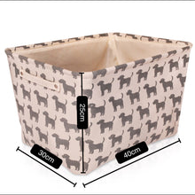 Load image into Gallery viewer, Cream Dog Canvas Storage Basket