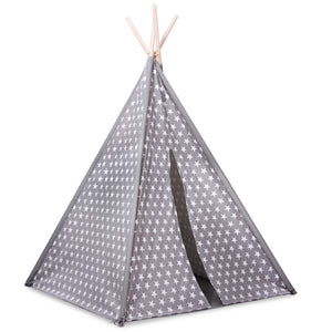 Grey Star Teepee Play Tent