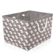 Load image into Gallery viewer, Foldable Grey Elephant Storage Basket