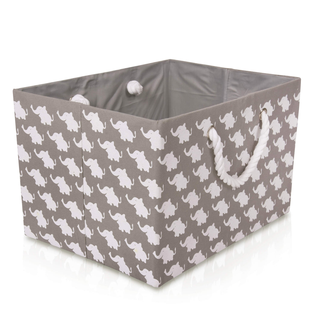 Foldable Grey Elephant Storage Basket