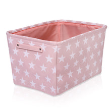 Load image into Gallery viewer, Pink Star Canvas Storage Basket Rectangle