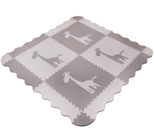 Large Grey Giraffe Interlocking Foam Baby Play Mat