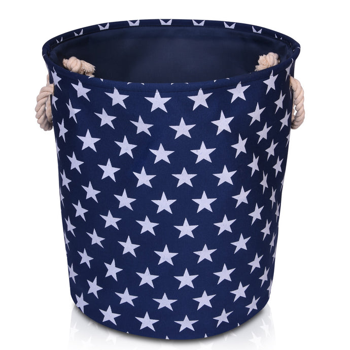 Blue Star Canvas Storage Basket