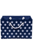 Load image into Gallery viewer, Foldable blue star storage basket
