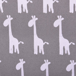 Grey Giraffe Canvas Storage Basket Rectangle