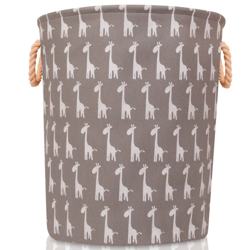 Large Grey Giraffe Storage Basket