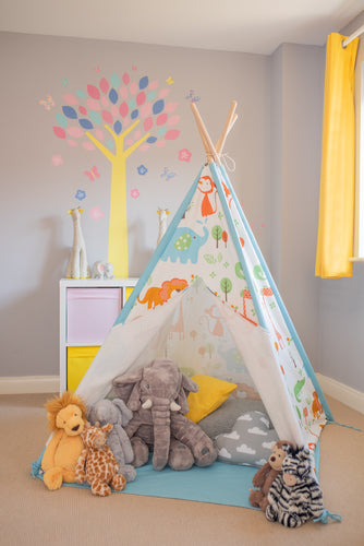 Jungle Animal Teepee Play Tent