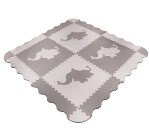Large Grey Elephant Interlocking Foam Baby Play Mat