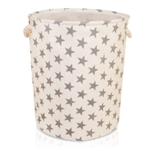 Load image into Gallery viewer, Large Cream with Grey Stars Storage Basket