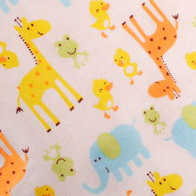 Load image into Gallery viewer, Baby Tag Blanket with Giraffes and Elephant