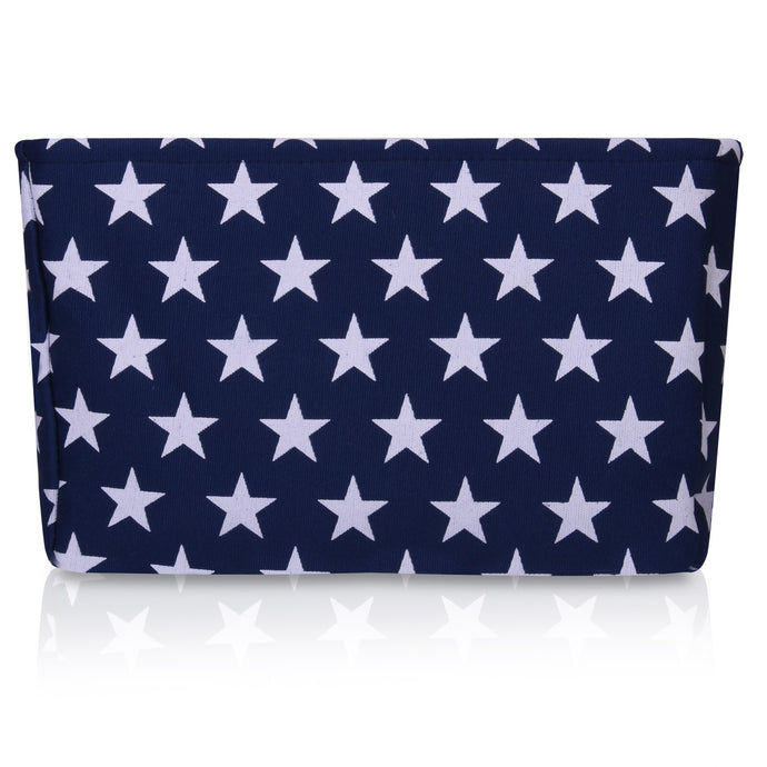 Blue Star Canvas Storage Basket Rectangle