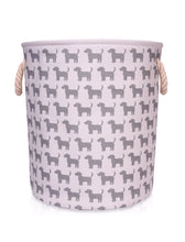 Load image into Gallery viewer, Large Canvas Storage Basket with Dog pattern