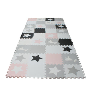 Grey And White Giraffe 9 Tile Baby Play Mat