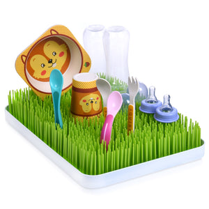 Baby Bottle Drying Rack - Grass Design