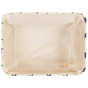 Cream Storage Basket with Blue Stars