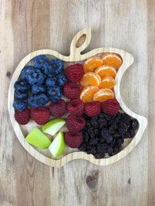 Apple Bamboo Plate