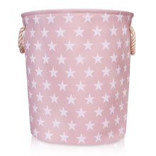 Load image into Gallery viewer, Pink Star Canvas Storage Basket