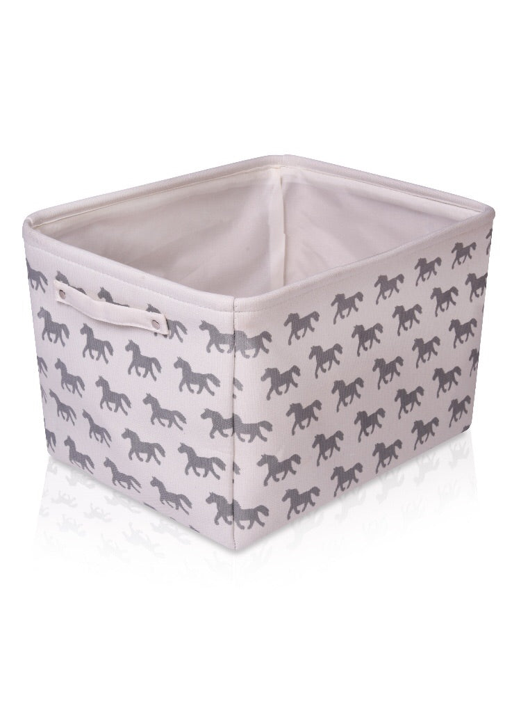 Horse Canvas Storage Basket