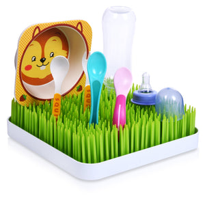 Baby Bottle Drying Rack - Grass Design Small