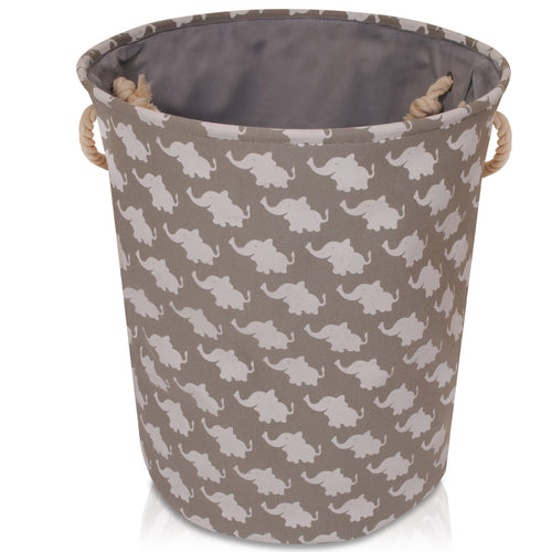 Large Grey Elephant Storage Basket