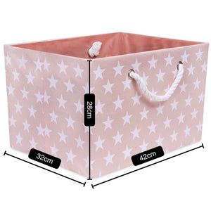 Foldable pink star storage basket
