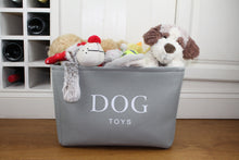Load image into Gallery viewer, Grey canvas dog toy box