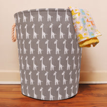 Load image into Gallery viewer, Large Grey Giraffe Storage Basket