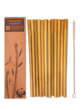 Load image into Gallery viewer, 12 Reusable Bamboo Straws