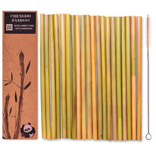 Load image into Gallery viewer, 20 Reusable Bamboo Straws