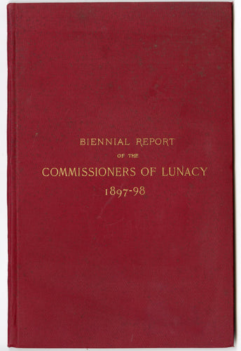 1897-1898 Antique BOARD OF COMMISSIONERS OF LUNACY Report, New Hampshire, Mental Ward, Psychology