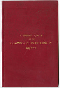 1887-1898 Antique BOARD OF COMMISSIONERS OF LUNACY Report, New Hampshire, Mental Ward, Psychology