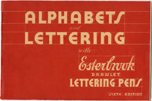 Load image into Gallery viewer, Alphabets & Lettering with Esterbrook Drawlet Lettering Pens PDF ONLY, 6th Edition